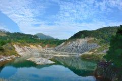 Appréciez la vue de la nature autour de la vallée thermique de Beitou ValleyHell en montagne de Yangmingshan image stock