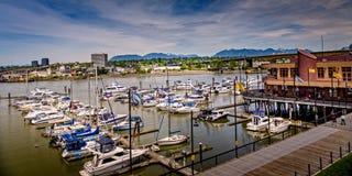 Appréciez le Canada de port de région de Richmond AVANT JÉSUS CHRIST photographie stock
