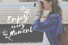 Appréciez le concept d'amusement de liberté de mode de vie de bonheur image stock