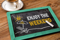 Appréciez le concept de week-end images stock