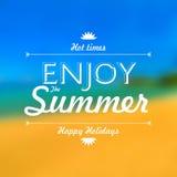 Appréciez le fond de tache floue d'affiche de vacances d'été Photographie stock libre de droits