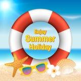 Appréciez le fond de vacances d'été Vacances de saison, week-end Vecto illustration libre de droits