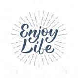 Appréciez le lettrage de la vie Photographie stock libre de droits