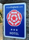 Appréciez le signe de l'Angleterre Photos stock