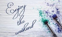 Appréciez le week-end photos stock
