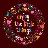 Appréciez les petites choses illustration stock
