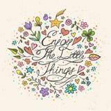 Appréciez les petites choses Image stock