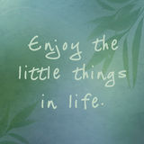 Appréciez les petites choses dans la vie illustration libre de droits