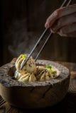 Appréciez vos boulettes chinoises photographie stock
