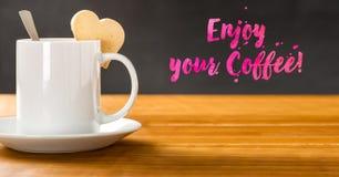 Appréciez votre café images stock