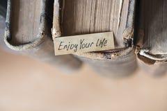 Appréciez votre citation de la vie photo stock