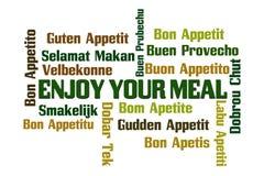 Appréciez votre repas illustration libre de droits