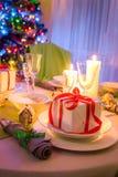 Appréciez-vous arrangement de table de Noël pour Noël photo libre de droits