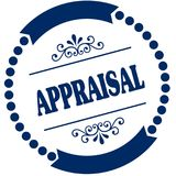 APPRAISAL blue seal. Illustration graphic concept image Royalty Free Stock Photography