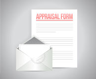 Appraisal form document illustration design. Over a grey background Royalty Free Stock Photos