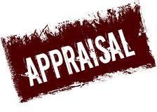 APPRAISAL on red retro distressed background. Illustration image Stock Image