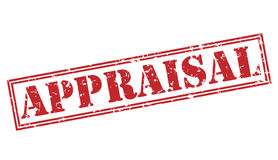 Appraisal red stamp. On white background Royalty Free Stock Photos