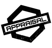 Appraisal rubber stamp. Grunge design with dust scratches. Effects can be easily removed for a clean, crisp look. Color is easily changed Stock Photography