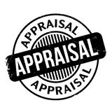 Appraisal rubber stamp. Grunge design with dust scratches. Effects can be easily removed for a clean, crisp look. Color is easily changed Stock Images