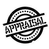Appraisal rubber stamp. Grunge design with dust scratches. Effects can be easily removed for a clean, crisp look. Color is easily changed Royalty Free Stock Images