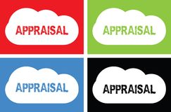 APPRAISAL text, on cloud bubble sign. Royalty Free Stock Photos