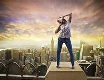 Appréciez la bonne musique Image libre de droits