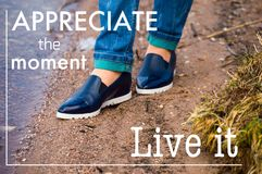 Appreciate the moment - live it royalty free stock images