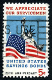 We Appreciate Our Servicemen US Postage Stamp Stock Photo