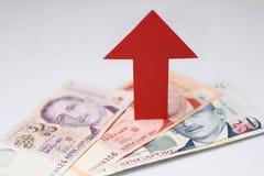 Appreciatie van de dollar van Singapore Stock Afbeelding