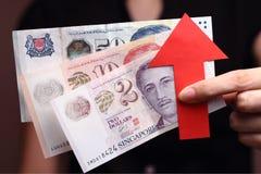 Appreciatie van de dollar van Singapore Royalty-vrije Stock Afbeeldingen