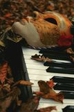 Appreciating Arts Among Autumn Leaves Stock Images
