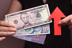 Appreciation of the currency Royalty Free Stock Photography