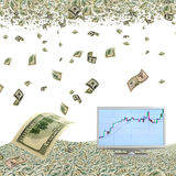 Appreciation of the dollar. Royalty Free Stock Photography