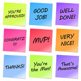 Appreciation Notes Royalty Free Stock Images