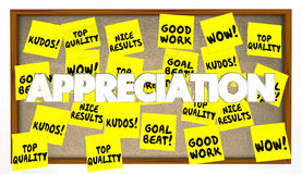 Appreciation Praise Thanks Recognition Notes Royalty Free Stock Photos