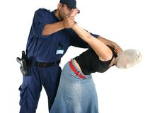 Apprehending a thief. Apprehending a masked thief or other criminal royalty free stock images