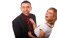 Apprenant comment attacher une relation étroite Photographie stock