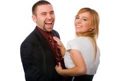 Apprenant comment attacher une relation étroite Images libres de droits