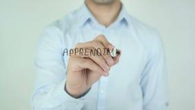 Apprendimento在网上,在网上学会,写用意大利语在透明玻璃 股票视频