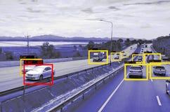 Apprendimento automatico ed AI per identificare tecnologia degli oggetti, concetto di intelligenza artificiale Elaborazione di im fotografia stock libera da diritti