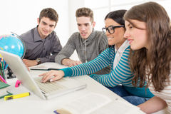 Apprendimento degli studenti Immagine Stock