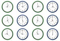 Apprendimento dei numeri del tempo di paia, blu. Immagini Stock Libere da Diritti