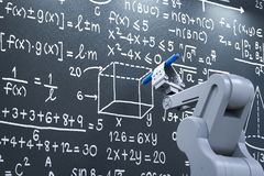 Apprendimento del braccio del robot Fotografia Stock