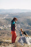 Apprendimento del cane da lepre fotografie stock