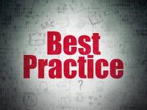 Apprendimento del concetto: Best practice sul fondo della carta di dati di Digital Immagini Stock