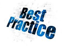 Apprendimento del concetto: Best practice sul fondo di Digital Fotografia Stock