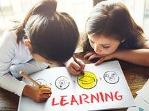 Apprendimento del concetto di saggezza di comprensione di conoscenza di istruzione di studio Fotografia Stock