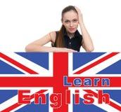 Apprendimento del concetto inglese Fotografia Stock Libera da Diritti