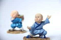 Apprendimento del fu del kung Immagini Stock
