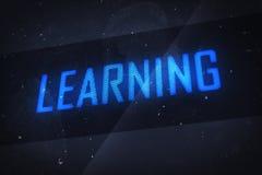 APPRENDIMENTO del testo sugli schermi virtuali illustrazione di stock